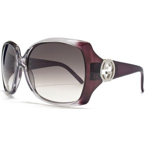 Gucci Sunglasses Oversize in Gradient Purple.