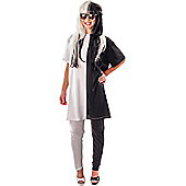 Adult Black & White Illusion Costume Large/Extra Large