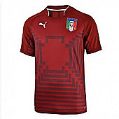 2014-15 Italy World Cup Goalkeeper Shirt (Red) - Kids - Red