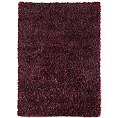 Husain International Plain Purple Woven Rug - 180cm x 120cm (5 ft 11 in x 3 ft 11 in)