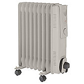 Fine Elements 2kw Oil Filled Radiator, Grey