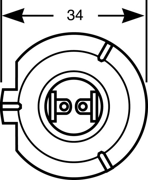H7 Standard Headlight Bulb Single Pack