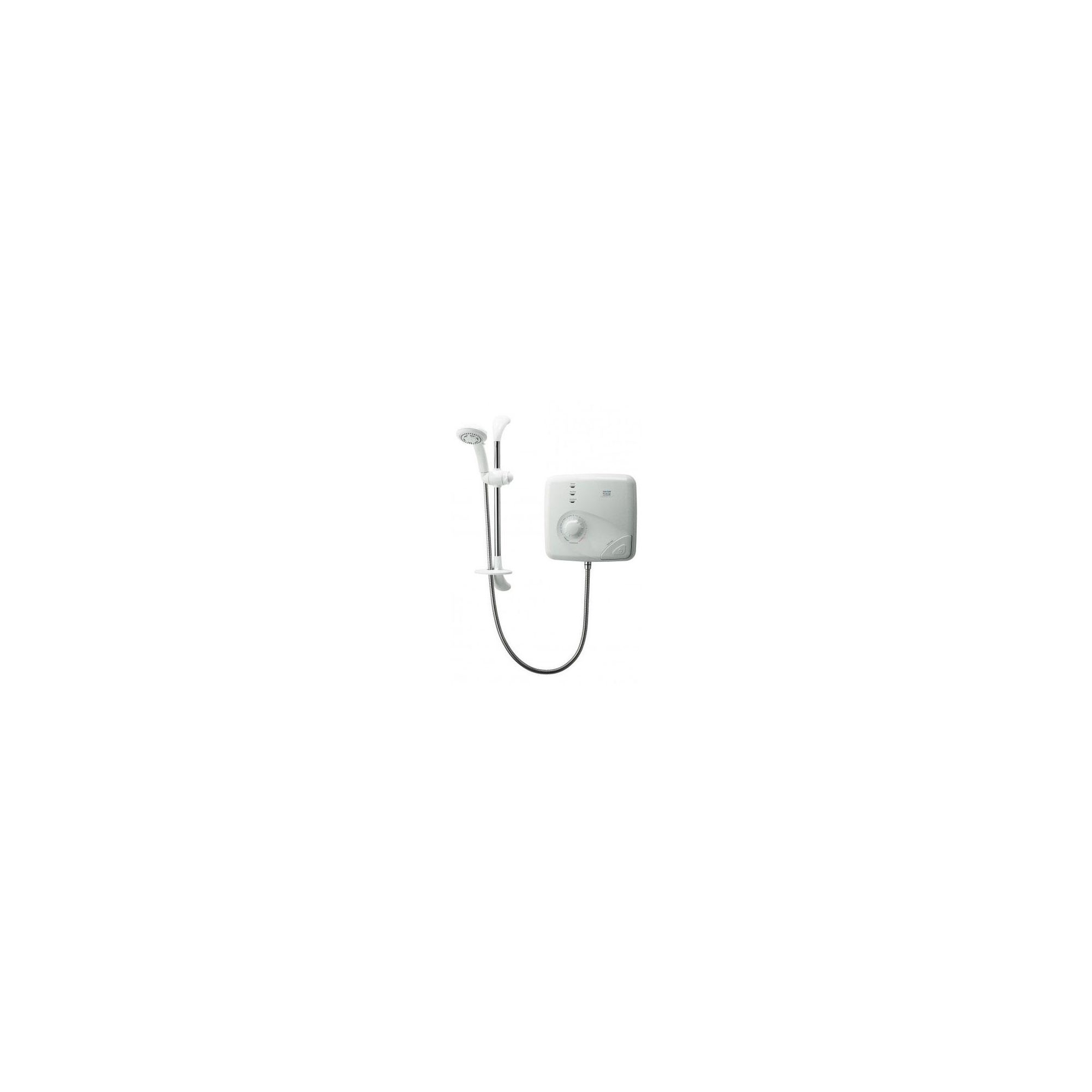 Triton T150Z Pumped Thermostatic Electric Shower White/Chrome 8.5 kW at Tesco Direct
