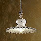 Ferroluce Roma 23 cm 1 Light Pendant in Blue / Brass