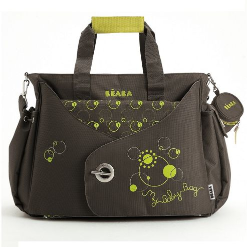 BEABA Sydney Changing Bag, Brown/Green