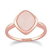 Gemondo Rose Quartz 'Tweedia' Pastel Ring in 9ct Rose Gold Plated Sterling Silver