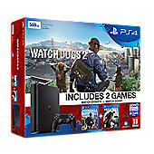 PS4 slim 1TB console with Watchdogs 1 + 2 (D Chassis)