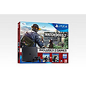 PS4 Slim 1TB Watch Dogs 2 Console Bundle Black (D Chassis)