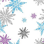Disney Frozen Girls Bedroom Wallpaper - Snowflake