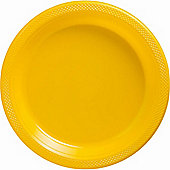 Yellow Sunshine Serving Plates - 26.6cm Plastic, Pack of 20