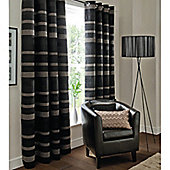 Catherine Lansfield Home Arlington Curtains 46x72 (117x183cm) - Black