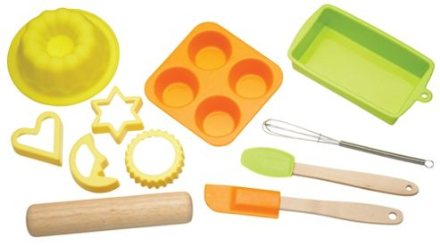 KitchenCraft Let's Make Children's 11 Piece Silicone Bakeware Set