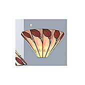 Loxton Lighting Leaf Wall Light in Red