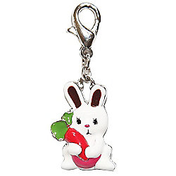 Bunny and Carrot Clip on Charm