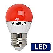 MiniSun ES E27 4W Red LED Golfball Bulb Cool White / Daylight