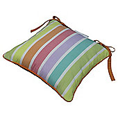 Striped Polycotton Garden Chair Cushion - Bright