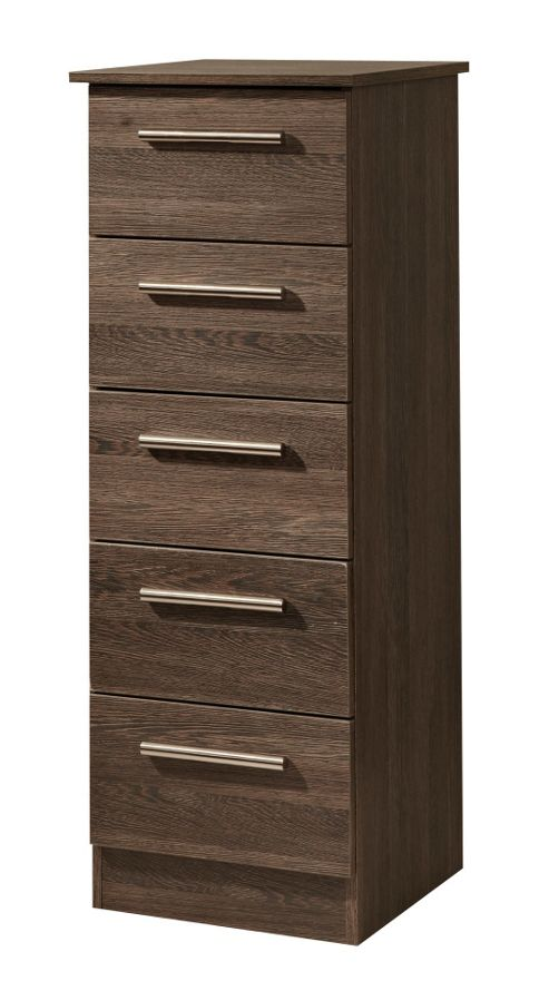 Welcome Furniture Contrast 5 Drawer Chest - Mushroom