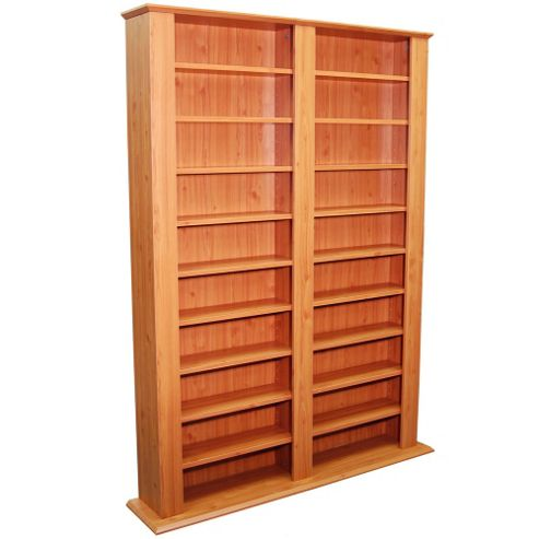 Techstyle Multimedia CD / DVD Storage Shelves - Pine