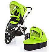 ABC Design Cobra 3 in 1 Pushchair & Carrycot (Silver/Lime)