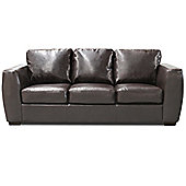 Global Furniture Direct Contemporary Bonded Leather 3 Seater Sofa - Red
