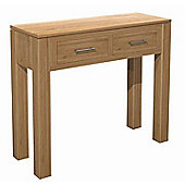Kelburn Furniture Milano 2 Drawer Console Table in Clear Satin Lacquer