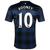 2013-14 Man United Away Shirt (Rooney 10) - Blue