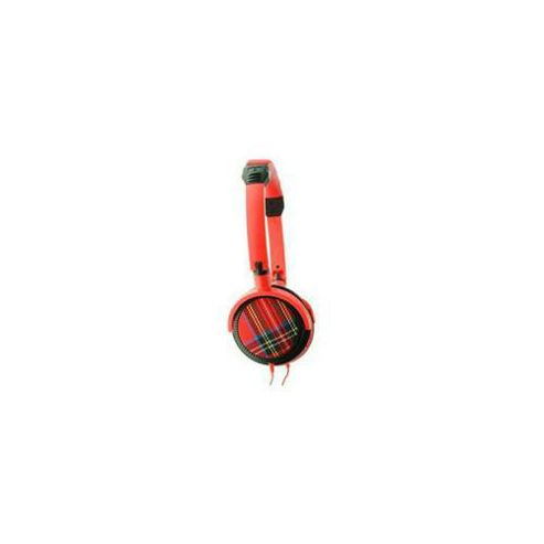 Urbanz TARTAN/RD Tartan DJ Fashion Headphones - Red