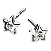 Children's D for Diamond Silver Star Stud Earrings