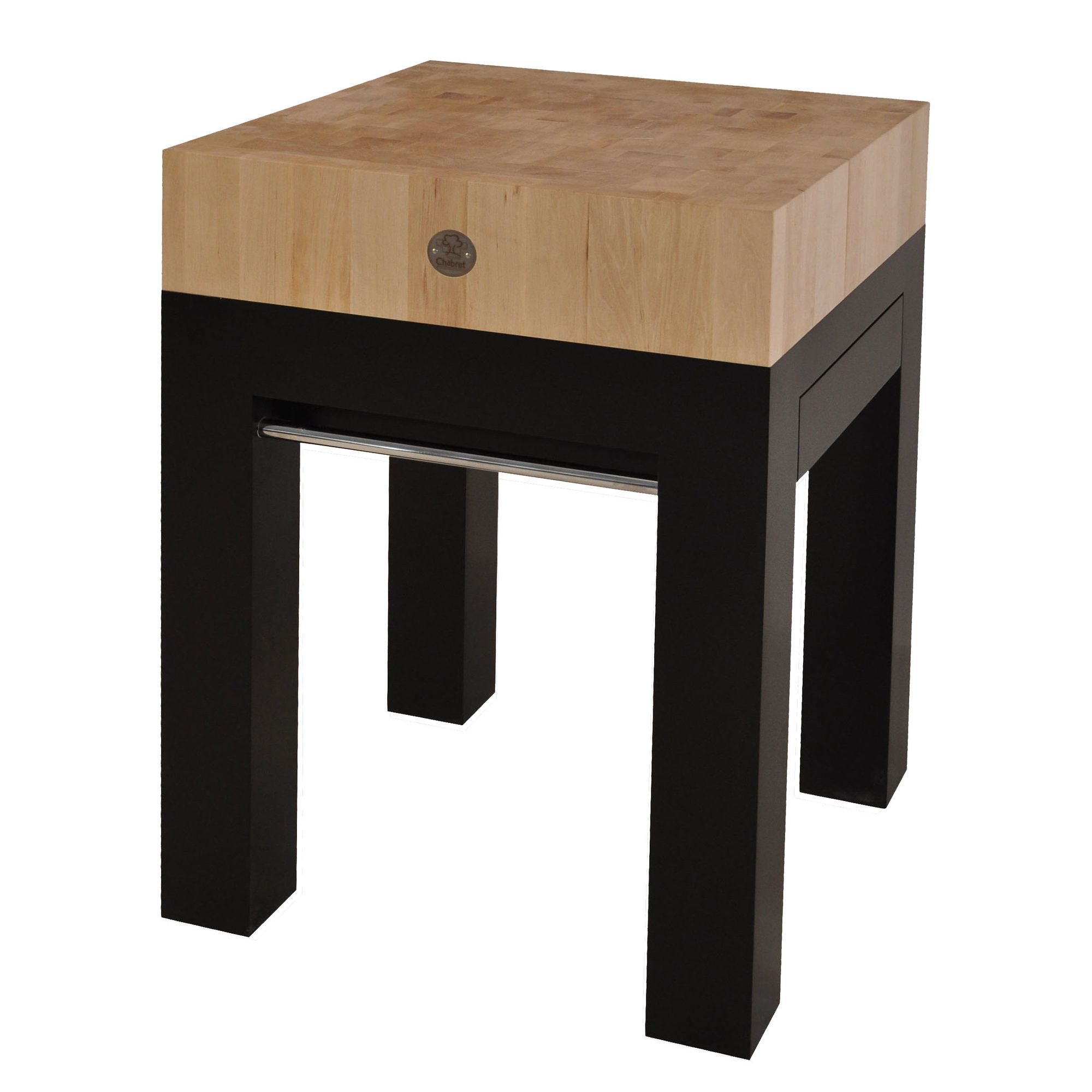 Chabret Butcher's Block by MC Berger - 90cm X 80cm X 60cm at Tesco Direct