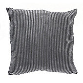 Country Club Jumbo Ribbed Filled Cushion, 55 x 55cm, Grey