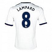 2013-14 Chelsea Away Shirt (Lampard 8) - White