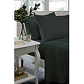 Catherine Lansfield Non Iron Percale Combed Poly-Cotton Fitted Sheets in Black - Single
