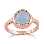 Gemondo Blue Jade 'Diantha' Pastel Ring in 9ct Rose Gold Plated Sterling Silver