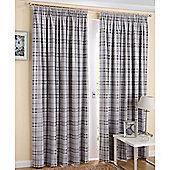 Enhanced Living Edinburgh Slate Curtains 168X229cm