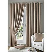 Madison Eyelet Lined Curtains - Beige