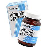 HealthAid Vitamin B12 Cyanocobalamin 100 Tablets 1000µg