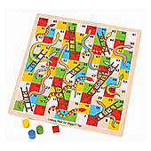 Bigjigs Toys Traditional Snakes and Ladders