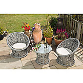 BrackenStyle Lattice Two Seat Tea Set & Cushions - Light Grey
