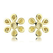 9ct Yellow Gold Fancy Shaped Studs Earring