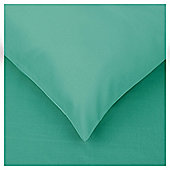 Tesco Twin Pack Housewife Pillowcases Aquamarine