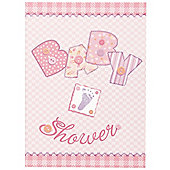 Baby Stitching Pink Invitation Cards (8pk)