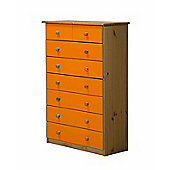 6 + 2 Chest of Drawers in Antique and Orange