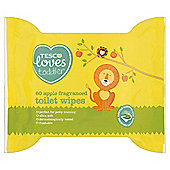 Tesco Loves Toddler Apple Fragranced Toilet Wipes X 60