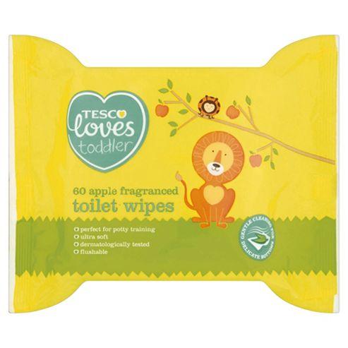 Tesco Loves Toddler Apple Fragranced Toilet Wipes X 60