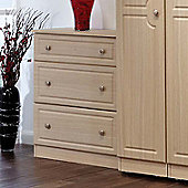 Welcome Furniture Pembroke 3 Drawer Deep Chest - Beech