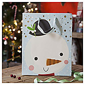Chilly Snowman Christmas Gift Bag, Large