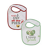 Sprouts and Pies Christmas Bibs - 2 Pack