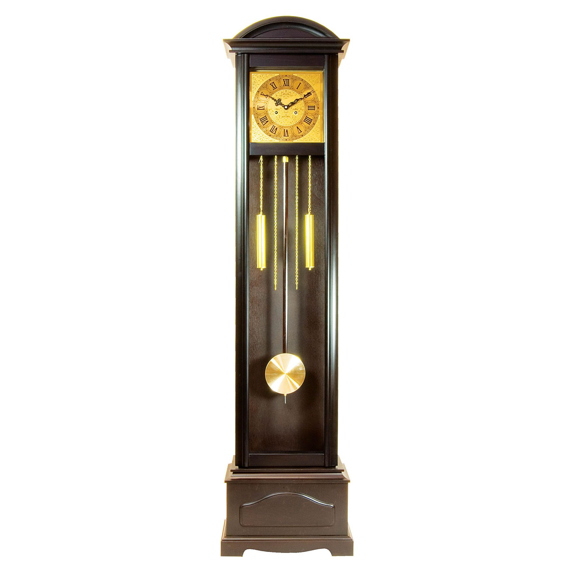 Premier Housewares Grandfather Clock Square Face Mahogany at Tescos Direct