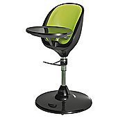Brother Max Scoop Highchair, Black With Lime Insert