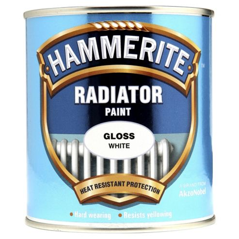 Hammerite High Gloss White Radiator Paint, 500ml